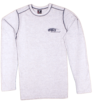 Hanes Long Sleeve T-Shirt in Grey
