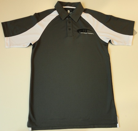 Levelwear Mens Interface Polo Charcoal w/ White