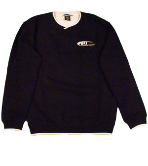 Levelwear Mens Admiral Sueded Cotton Pullover in Black w/Stone