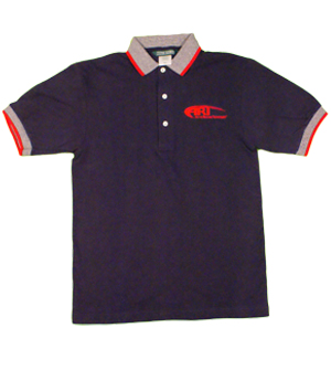 Outer Banks Mens Classic Polo in Navy with Red and White Trim