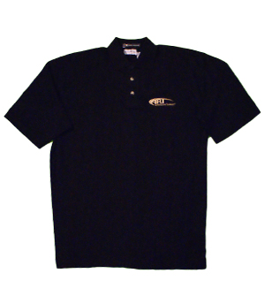 Platinum Tour Drop Needle Polo in Black