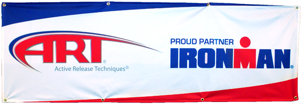 ART Ironman Proud Partner Cloth Banner