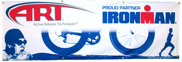 ART Ironman 'Swim, Bike, Run' Cloth Banner